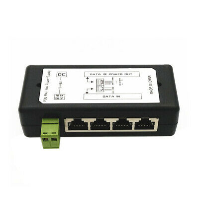 4 Port Poe Injector Poe Power Adapter Ethernet Power Supply Pin 4,5(+)/7,8(- 6Q3