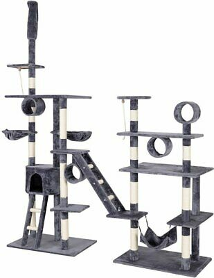 Cat Tree Tower Condo Furniture with Ladder and Hammock Large Multi Level House