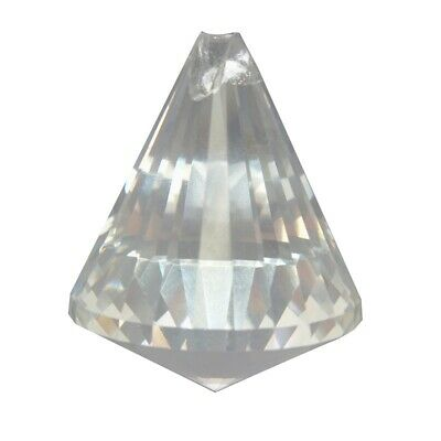 40mm Clear Crystal Glass Hanging Drop Prisms Part Pendant Decor H3R1