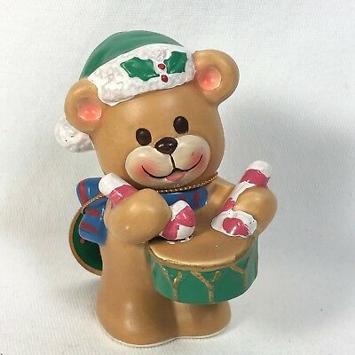 Merry Bear Napcoware Japan Vintage Christmas Bear Drummer Figurine