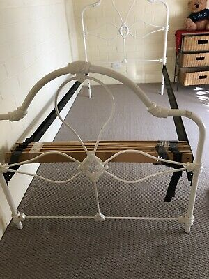 White Cast iron bed- good condition