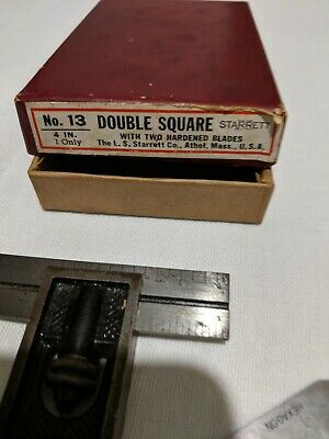 Starrett number 13 double square 4 inch two blades in Original box