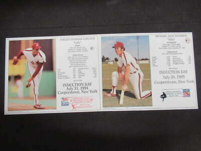 (2) Phillies Hall Of Fame Induction 8X10 Steve Carlton Mike Schmidt Ml513