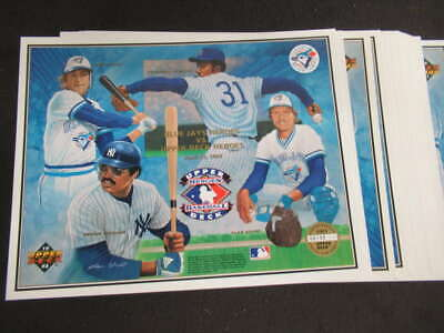 (25) 1993 Upper Deck Heroes Of Baseball Toronto Blue Jays Collectors Sheet Ml563