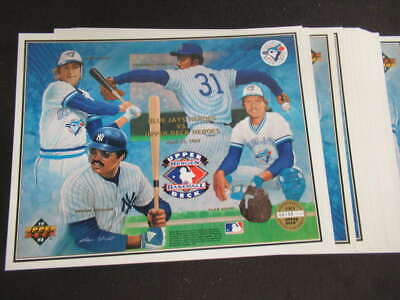 (22) 1993 Upper Deck Heroes Of Baseball Toronto Blue Jays Collectors Sheet Ml566