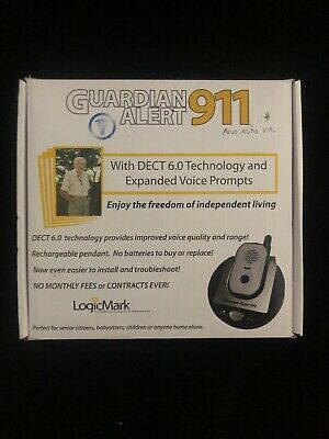 Logicmark Guardian Alert Panic Phone 911 Emergency System 30511 No Monthly Fees