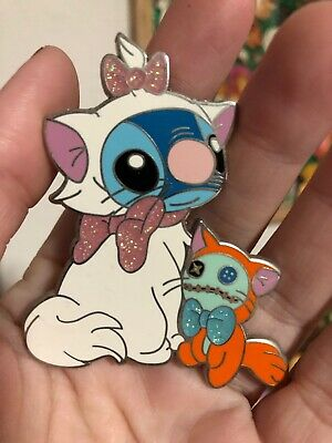 Disney Fantasy Pin Fan Made Art Stitch Dressed Marie Aristocats Scrump Toulouse