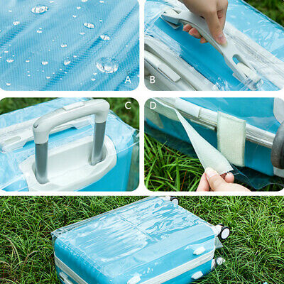 Clear PVC Plastic Luggage Cover Suitcase Protector Covers 20/22/24/26/28 inch