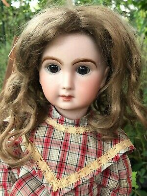 Antique French Bisque Jumeau Seeley Doll Artist Reproduction Triste Bebe Bru 18""