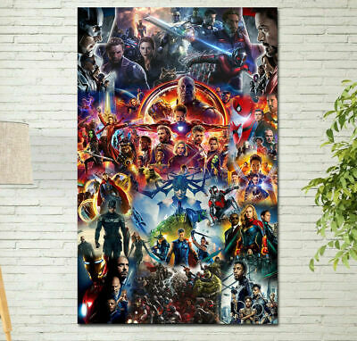 All Marvel Cinematic Universe COLLAGE Poster Avengers End Game Movie Wallpaper