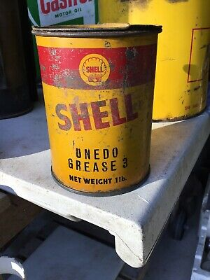 Old SHELL 1lb grease Tin - 1930s