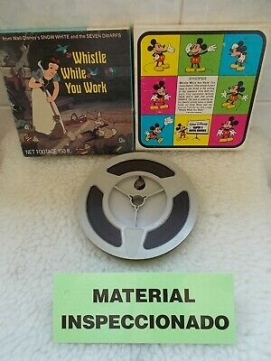 Walt Disney SHOW WHITE Whistle While you Work Film Cine Super8 Color Sound 60mts