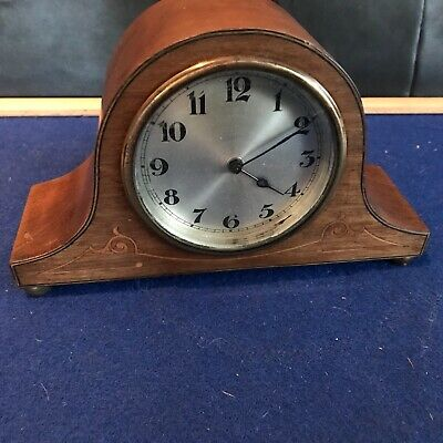 Edwardian inlays mahogany cased mantle clock