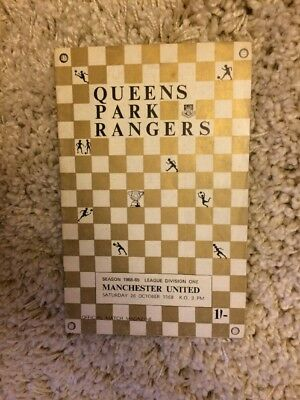 Queens Park Rangers v Manchester United 1968/1969 - Football Programme