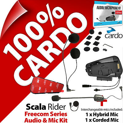 Cardo Scala Rider Audio & Mic Microphone Kit for Freecom for 1 2 4 1+ 2+ 4+