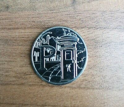 Alphabet 10p Letter P - for Post Box A-Z 2018 Ten Pence Coin Rare