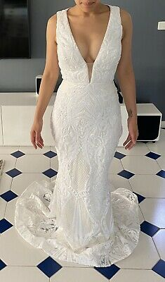NEW Jadore Custom Made Ilaria Gown - Ivory / Ivory JX1091 US 2 / AUS 4-6