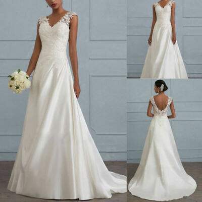 Sexy Lady Mermaid Wedding Dresses V Neck Chapel Train Lace Backless Bridal Gown