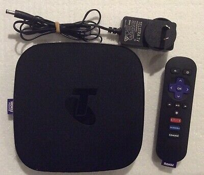 Telstra TV 2 Powered by Roku 4700TL Booster Media Streaming Box In Black