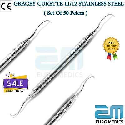 Gracey Curettes 11/12 Dental Hand Scalers Curette Periodontal Instruments Ce New