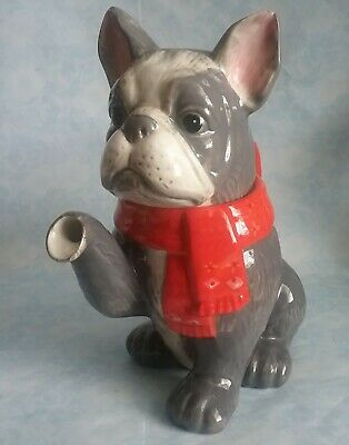 Asda George Frenchie French Bulldog Teapot NEW With Tag