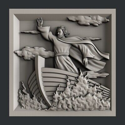 3d STL models for CNC, Artcam, Aspire, relief religion