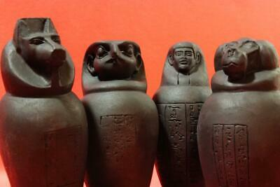 ANCIENT EGYPTIAN CANOPIC FUNERAL JARS - stone statues ancient replicas