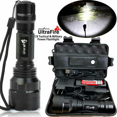 Tactical Military 150000LM T6 LED Flashlight 18650 Torch Work Light Headlamp US