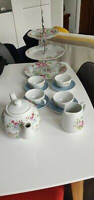 Cath Kidston Tea Set and cake stand In Spray Flowers print