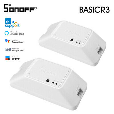SONOFF BASICR3 WIFI DIY Smart Switch With Timer Internet APP Voice LAN U1H5