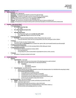 NEW YORK BAR Exam Outline - I passed the first time ** 77 SOLD