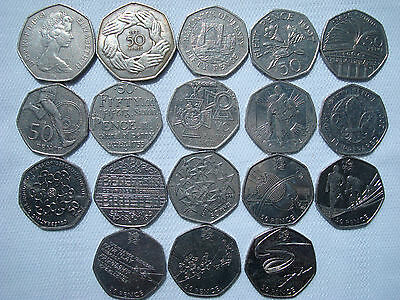 50p pence Commemorative, Regional & Olympic Rare Collectible Royal Mint Coins