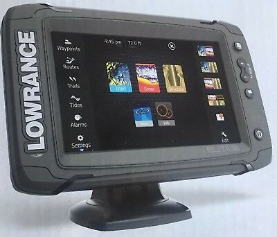 Lowrance Elite 7 Ti Fishfinder w/DownScan HDI Transducer  Free CMAP Insight Maps