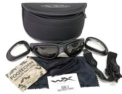 01dfbc17300f Wiley X SG-1 Z87-2 Tactical Interchangeable Goggles/Glasses Smoke & Clear