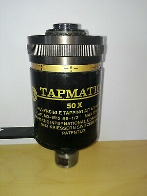 722) Tapmatic 50× Reversible Tapping Attachment CAP. M3-M12 #6-1/2""