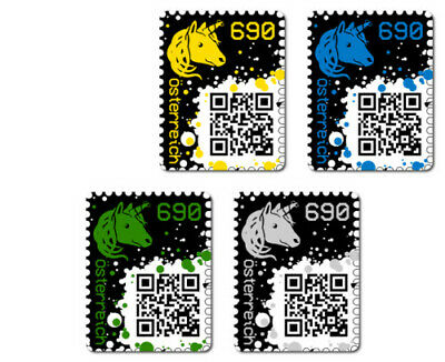 *CRYPTO STAMP SET* 4 colors (yellow, blue, green, black) - NEW and RARE