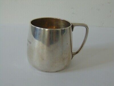 ANTIQUE TIFFANY & CO. STERLING SILVER BABIES CUP - 4.7 ounces