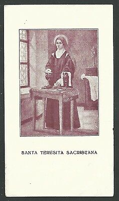 Estampa antigua de Santa Teresita santino holy card image pieuse