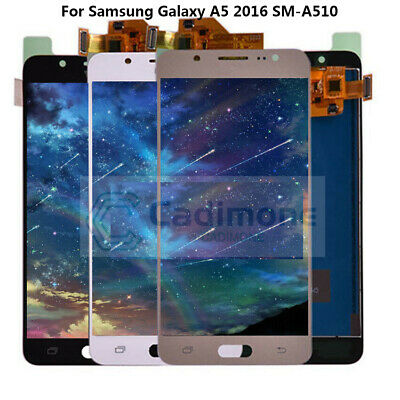 OLED Per Samsung Galaxy A5 2016 SM-A510F LCD Display Touch Screen Nero Bianco H2