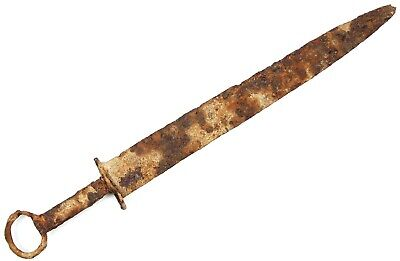Rare Ancient Authentic Roman Sarmatian Scythians Viking Iron Battle Sword 2-4 AD
