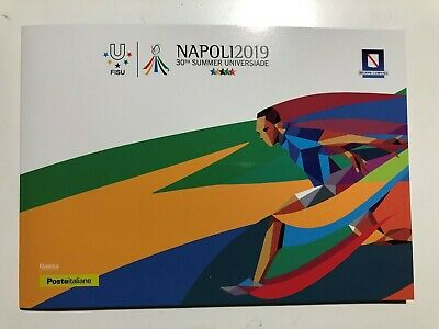 2019 Italia Folder Filatelico 30th Summer Universiade Napoli2019 Universiadi