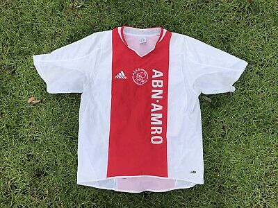 Vintage 1998 AFC Ajax Amsterdam Adidas Soccer Jersey Size Large L Red White
