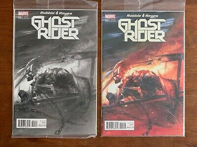 Ghost Rider #1 Gabrielle Dell'Otto BW and Color Variant NM