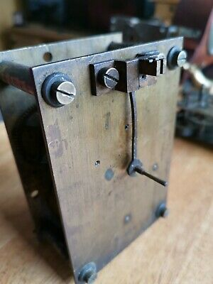 Antique Clock Movement unusual rare  14 day  like a fusee but not  Parts