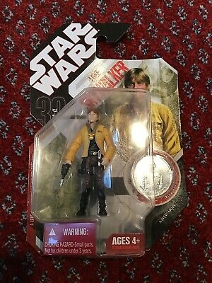 Hasbro Star Wars 2007 Luke Skywalker With Exclusive Collector Coin Action Figure