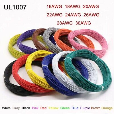 Stranded UL1007 18AWG 20AWG 22AWG 24AWG 26AWG 300V PVC Electric Cable ROHS FZ