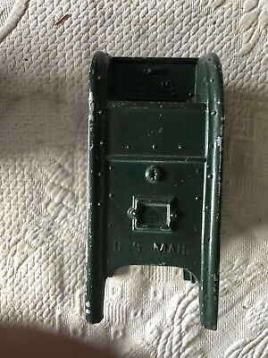 DIE CAST  GREEN US POST OFFICE MAILBOX COIN BANK Empire State Building Rare