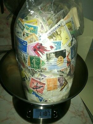 Lovely Off Paper World Stamp Mix - Over 1KG!  Photos show actual Lot.