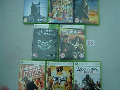XBOX 360 Games Joblot OF 8 GAMES see pics  (Lot Z8)
