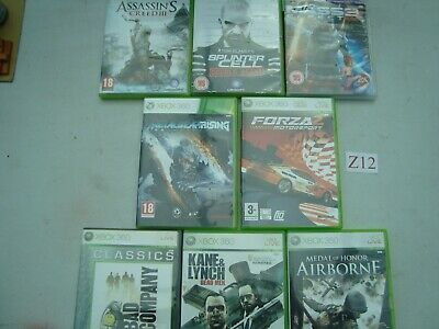 XBOX 360 Games Joblot OF 8 GAMES see pics  (Lot Z12)